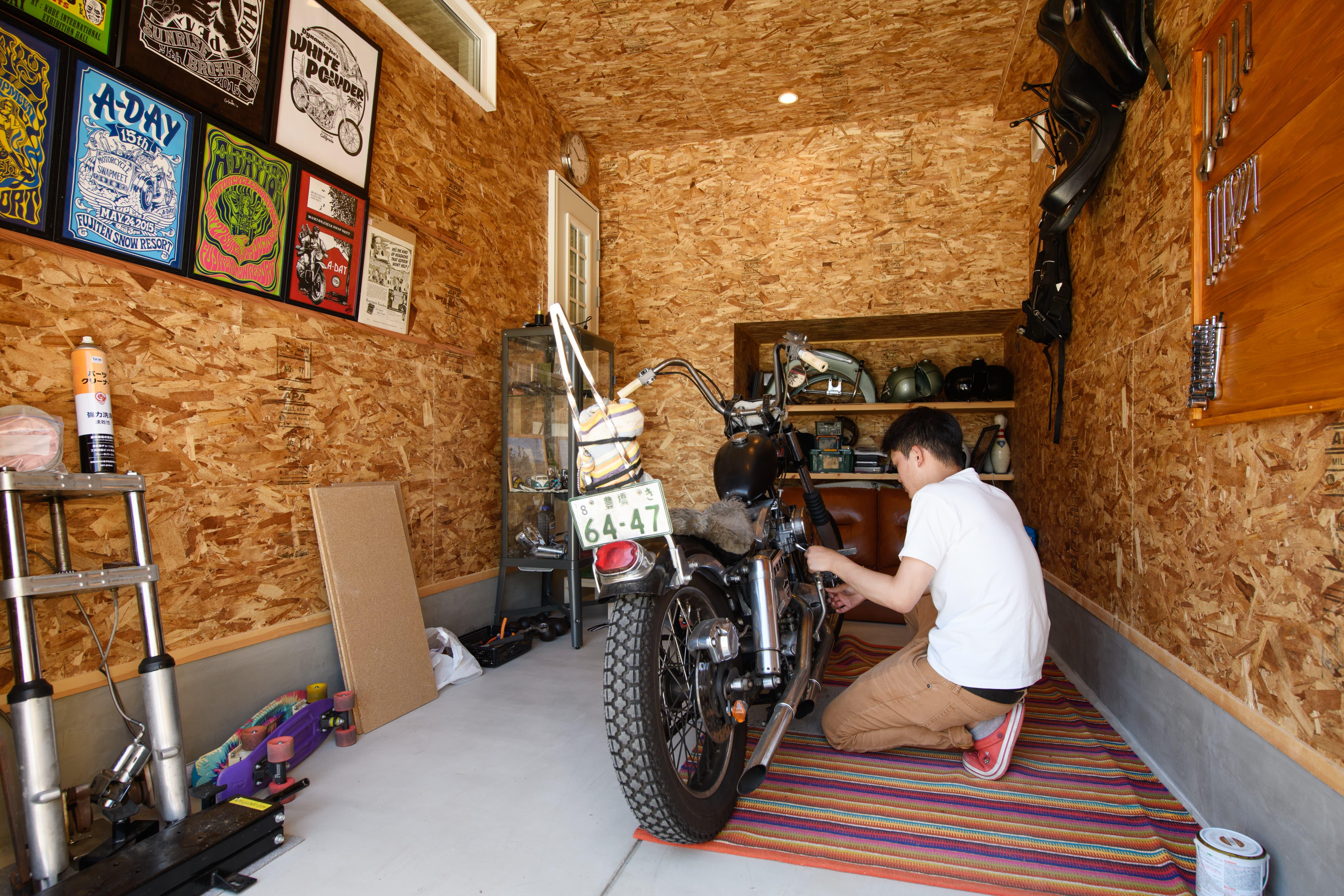 趣味を楽しむガレージハウス