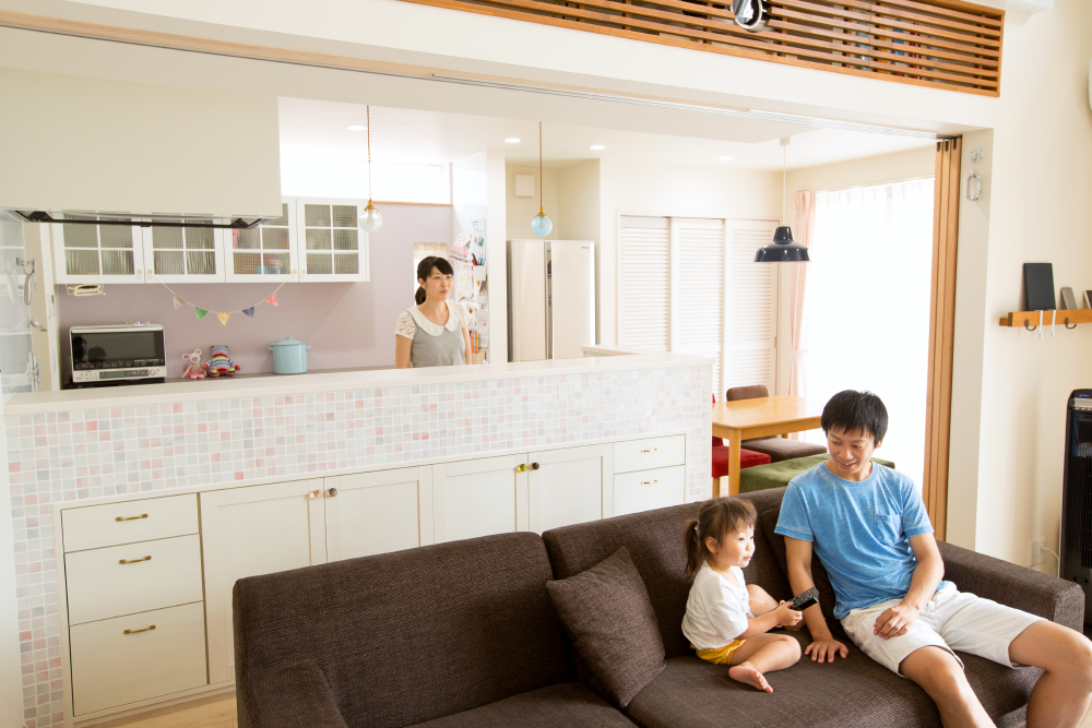 シンプル、ナチュラルなかわいい家の施工事例 こちらの持っている要望がどんなに多くてもとことん答えてくれました。