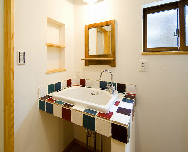 造作のオリジナル洗面化粧台
