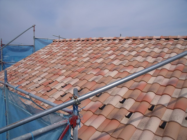 ベランダ防水工事開始、屋根工事完了!