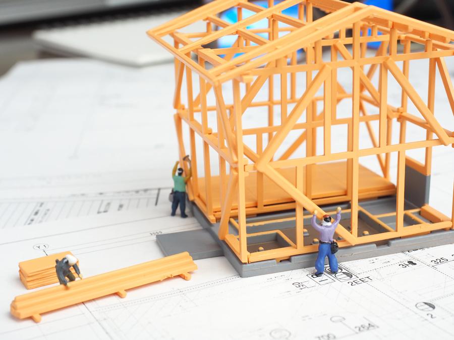 工事と監理のイメージ