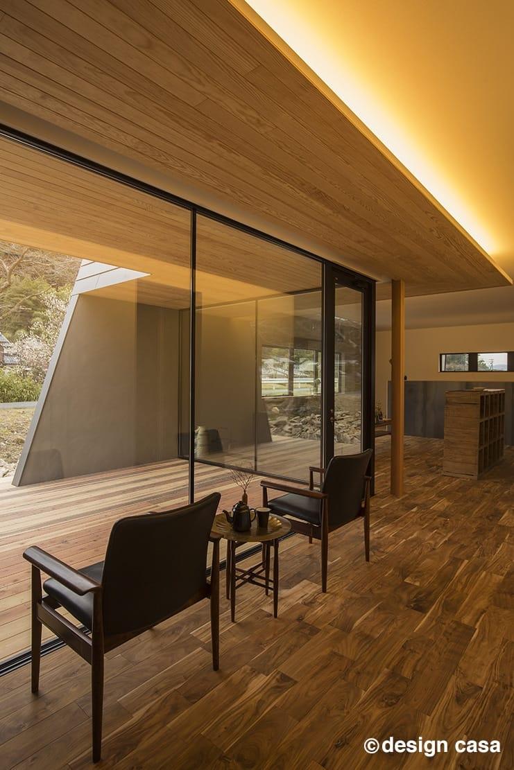 建築家とつくる平屋の内観~内と外をつなぐ境界が曖昧な空間が魅力