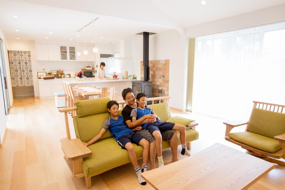 二世帯住宅のリビングの画像