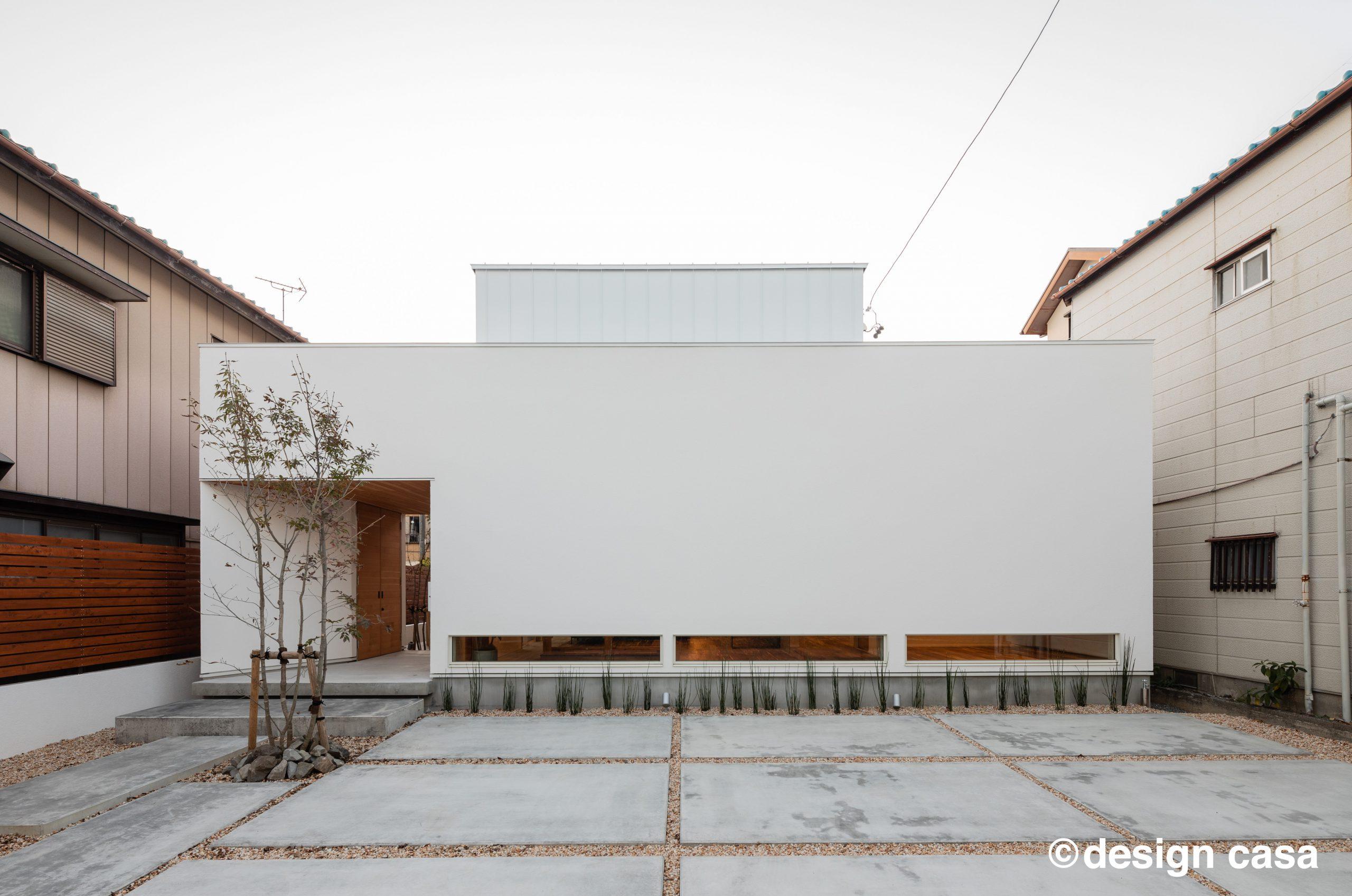 愛知の固定資産税の対象となる注文住宅の新築一戸建ての外観・エクステリアの画像集:シンプルな平屋の外観