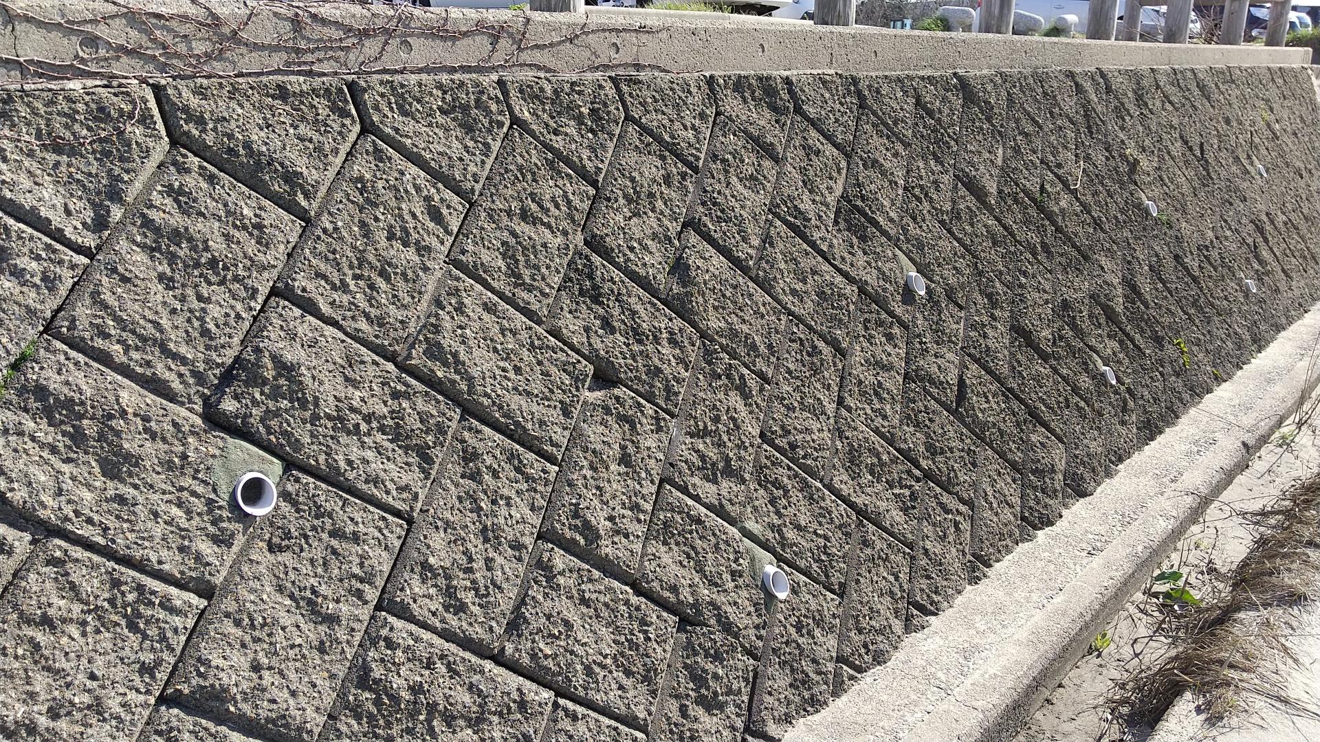 コンクリートブロック擁壁の画像