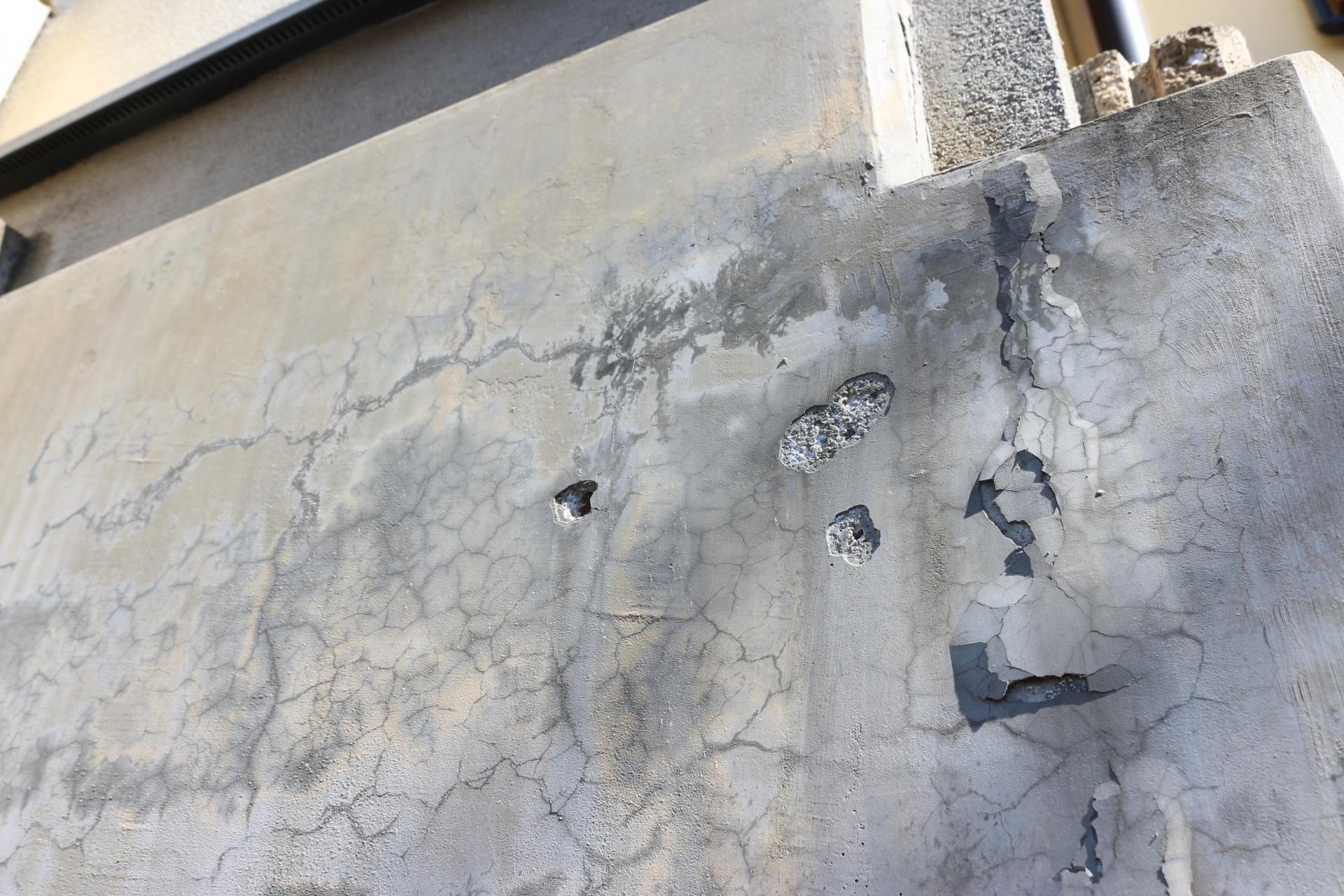 老朽化した擁壁の画像~早急なメンテナンスが必要な場合