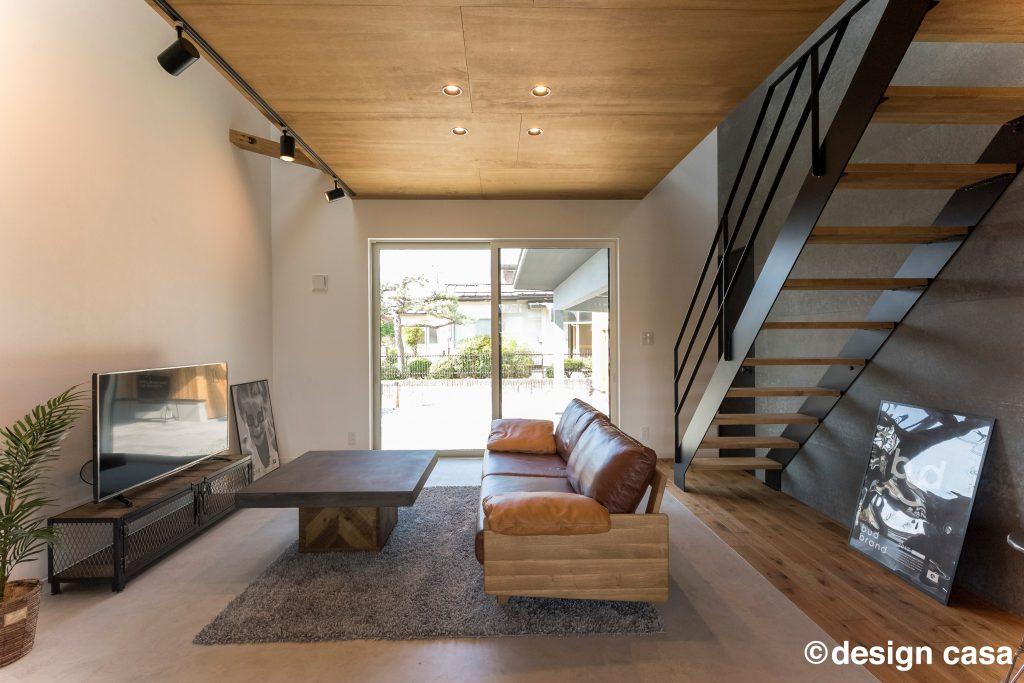 自然素材を内装に使用した注文住宅