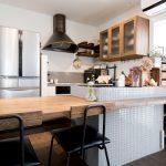 新築のキッチン背面収納