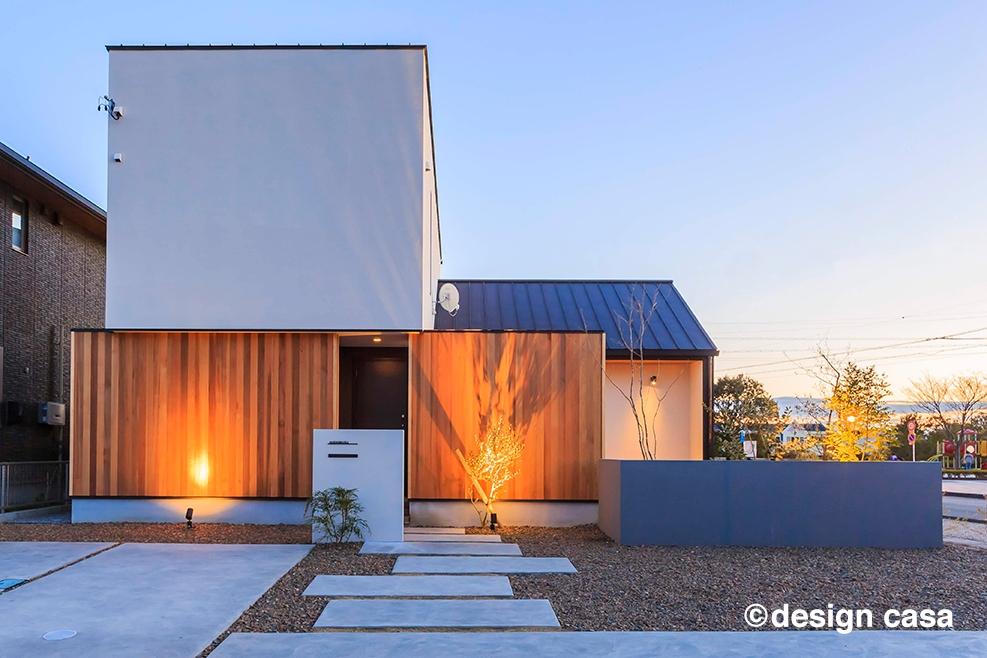 独特な形状デザインに懐かしさもある和モダンの家
