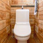 新築のおしゃれなトイレ収納画像
