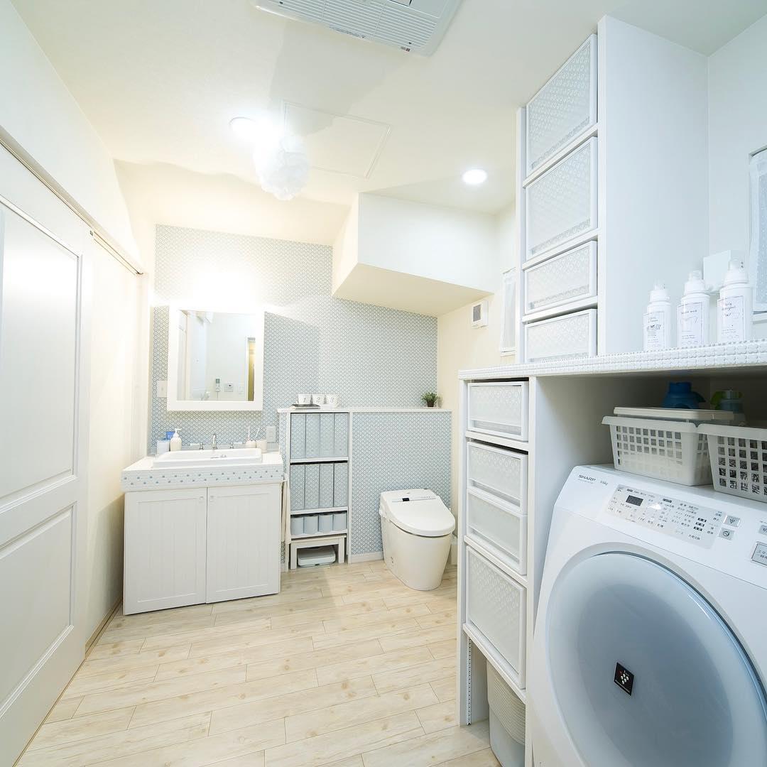 トイレと洗面台、脱衣室をコンパクトにまとめた間取り事例