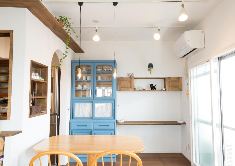レトロ風味なカフェ風のリノベーション_キッチン