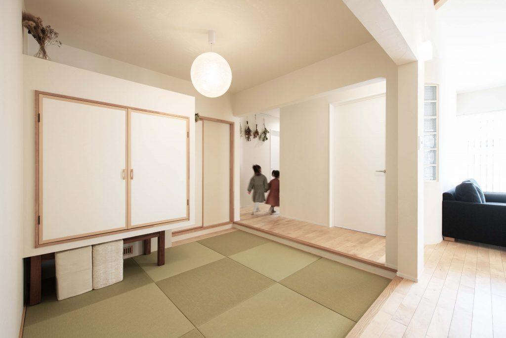 暮らしを楽しむ塗り壁の平屋(和室)