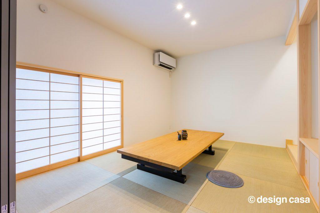 縁なし畳の小上がり和室