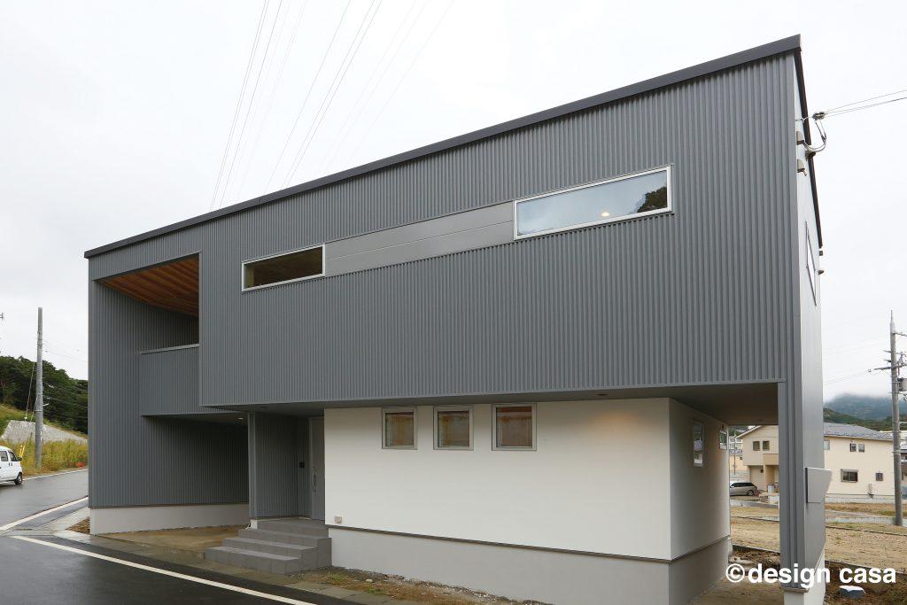 モダンな外観デザインの家