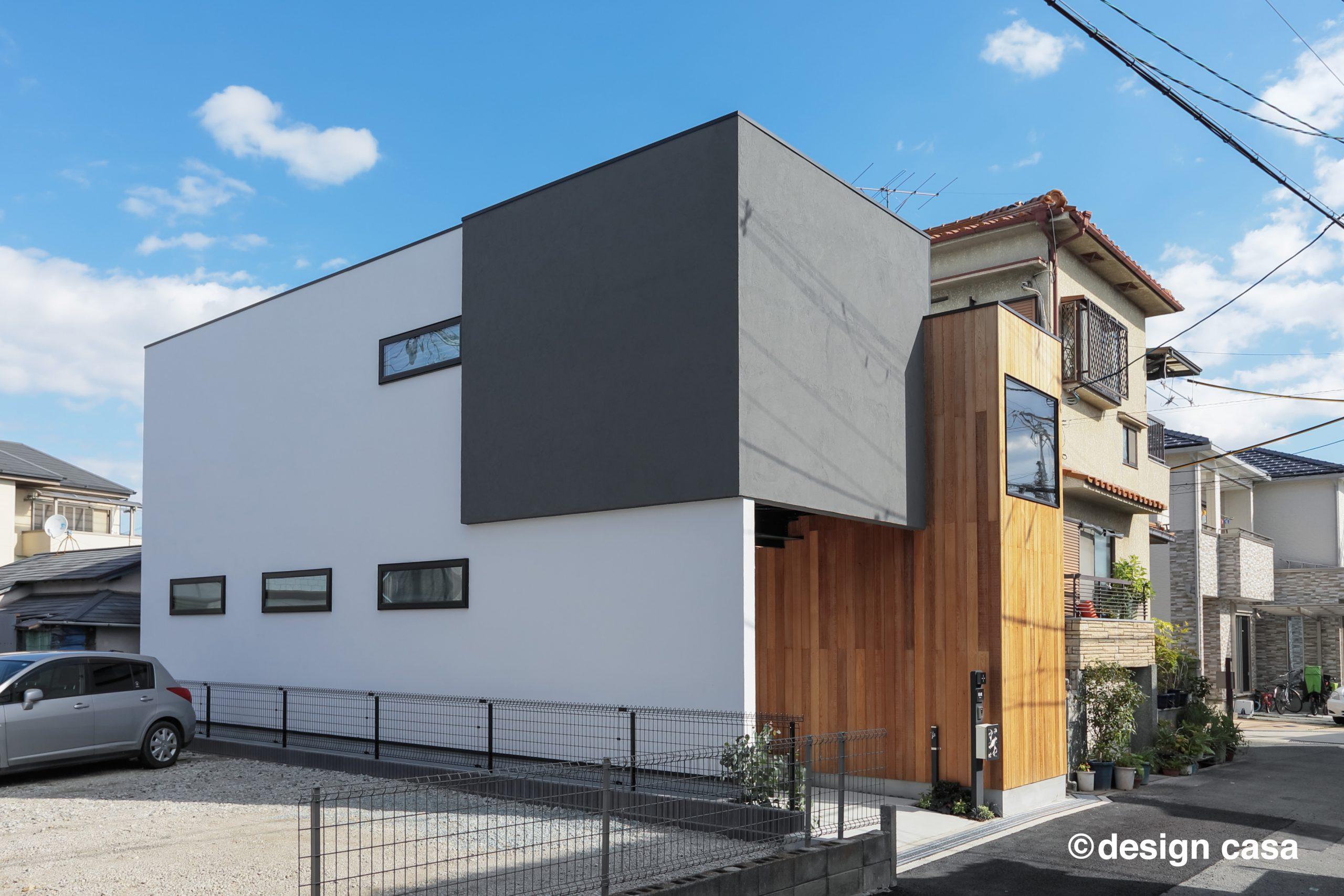 建築家とつくる家の施工事例(外観)