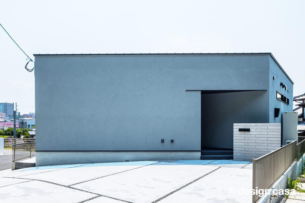 シンプルな家の外観